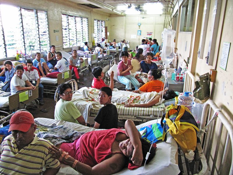 Filipino hospital with patients