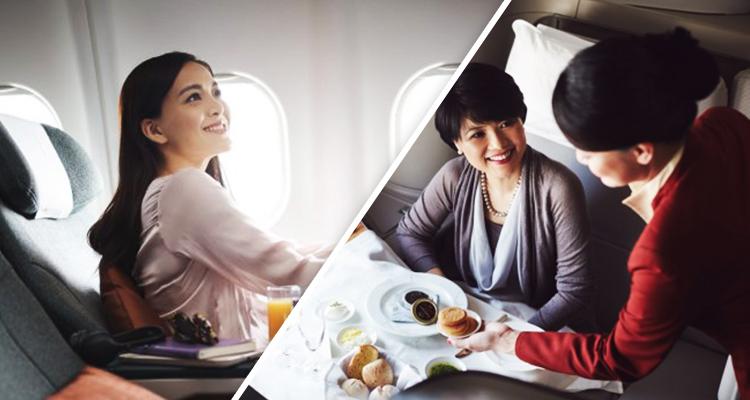 upgraded flight seat