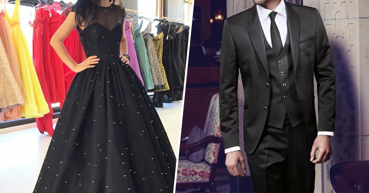 Slay in Black Gown and Tuxedo