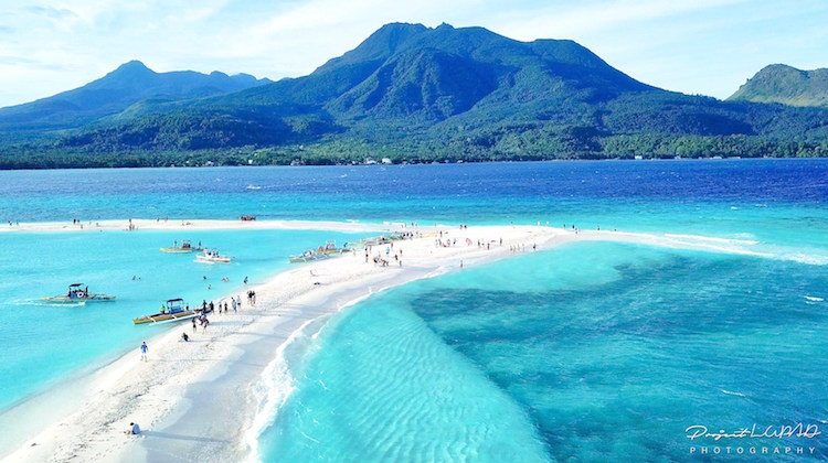Incredible sandbar in Camiguin Island