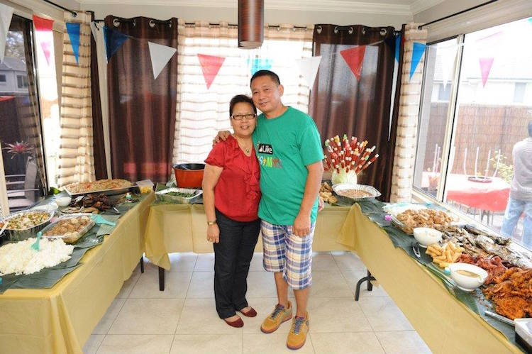 Fely and Fred Mahusay, owners of Sydney Cebu Lechon