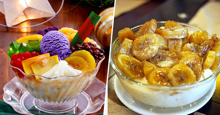 Halo-Halo Espesyal and Saba Con Yelo