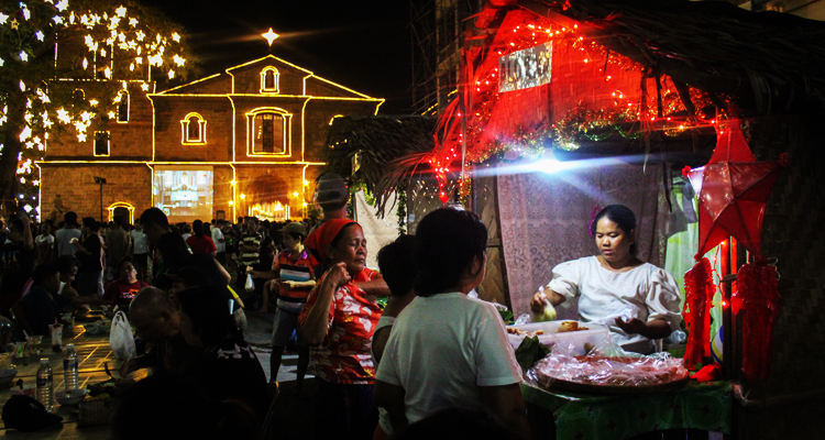 Pinoy kakanin being sold at a kubo outside the St. Joseph Parish Church