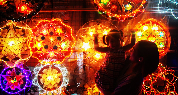 Plaza Quezon's Christmas Lanterns - Las Piñas City