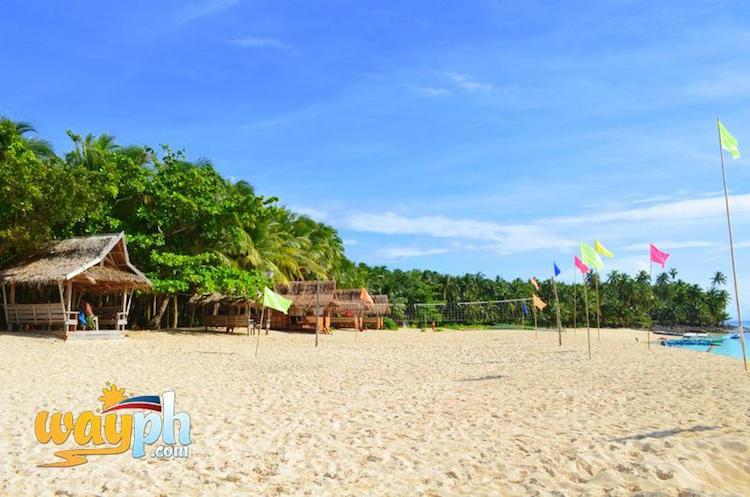 White sand beach in Siargao Island - Surigao del Norte