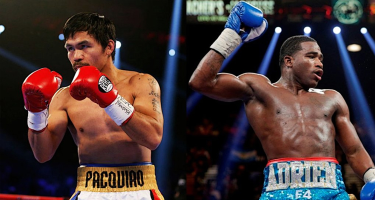 Image of Pacquiao and Broner side by side
