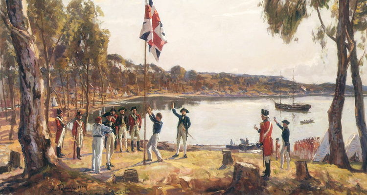 January 26 The Arrival of Captain Phillip and His Colony of Convicts