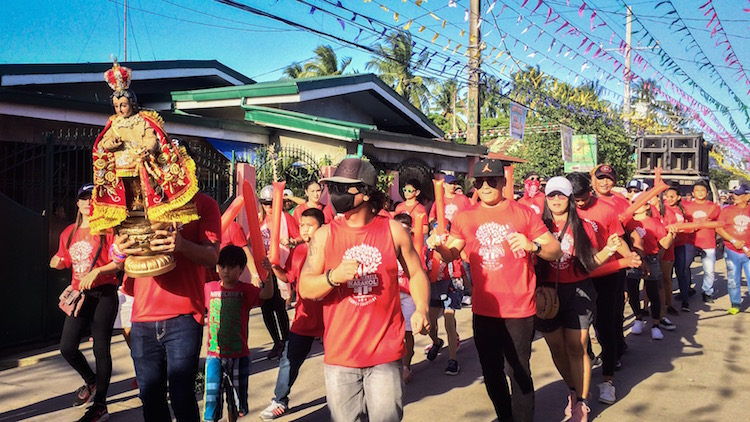 Karakol and Street Dance. Locals are dancing to honor Sto. Niño de Ternate