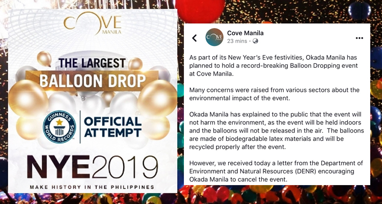 Manila Cove Cancelled Event
