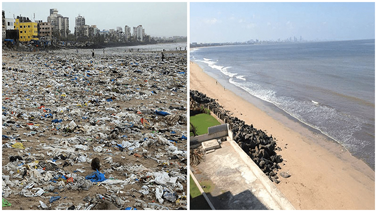 #trashtag challenge in Mumbai, India