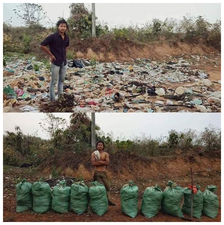#trashtag challenge in Nepal