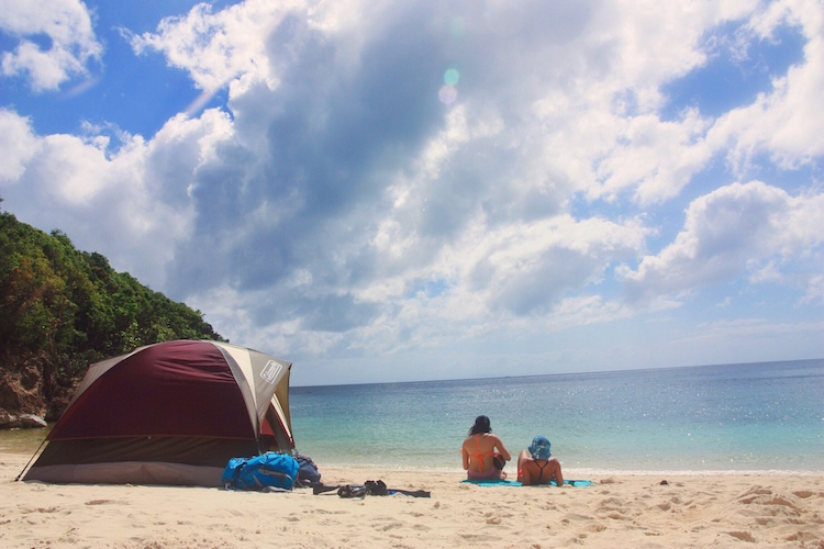 Camp out at the unspoiled beaches near the city