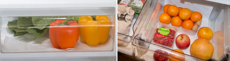 Line the bottom of your crisper drawers with paper towels