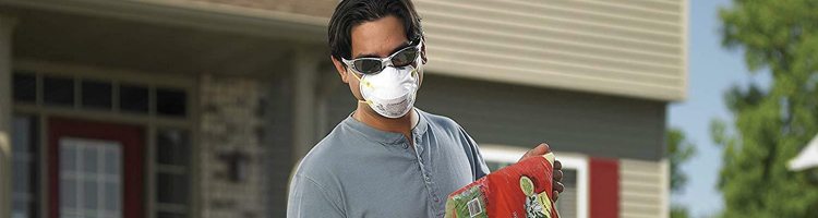 Don a surgical mask for outdoor chores