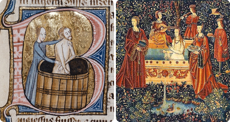 During the Middle Ages, people timed their yearly baths sometime in May or June