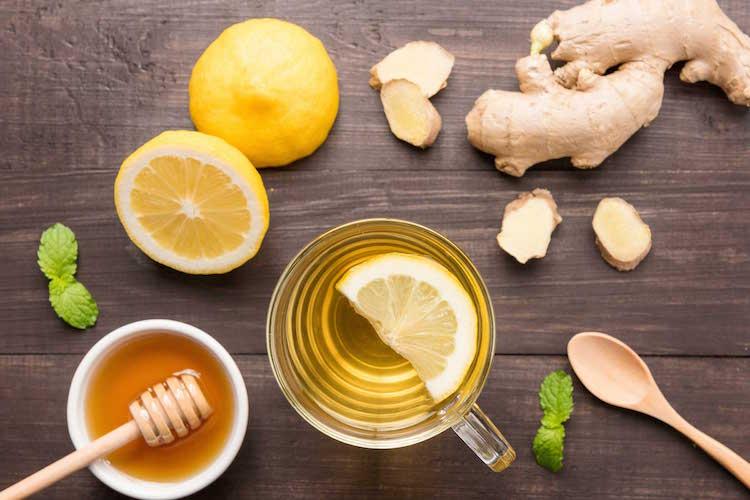 Homemade Fresh Ginger Tea
