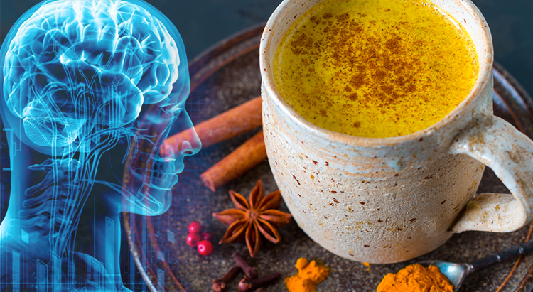 Golden milk supports brain function and improve memory