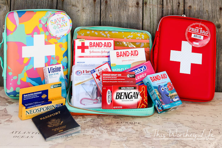 3-A well-stocked first-aid kit