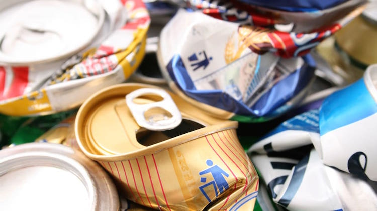 3-Crushing beer or soda cans prior to recycling