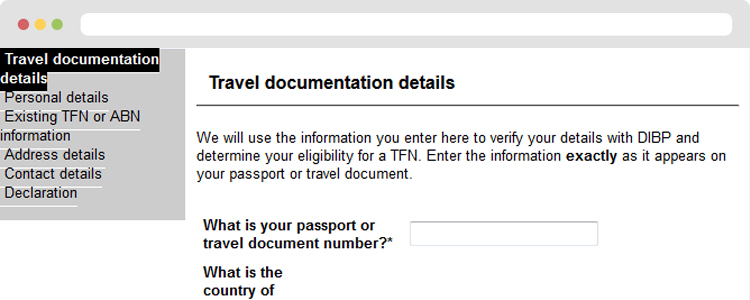 3-Fill up all the required fields on the Travel Documentation Details page
