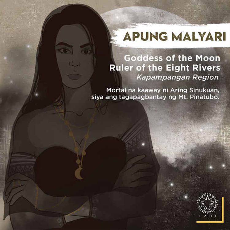 Apung Malyari - Goddess of the Moon, Ruler of the Eight Rivers