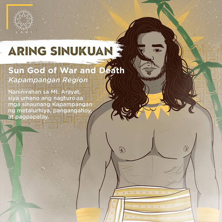 Aring Sinukuan - Sun God of War and Death (Kapampangan Region)