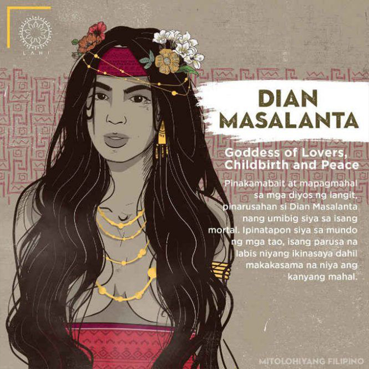 Dian Masalanta - Goddess of Lovers, Childbirth, and Peace