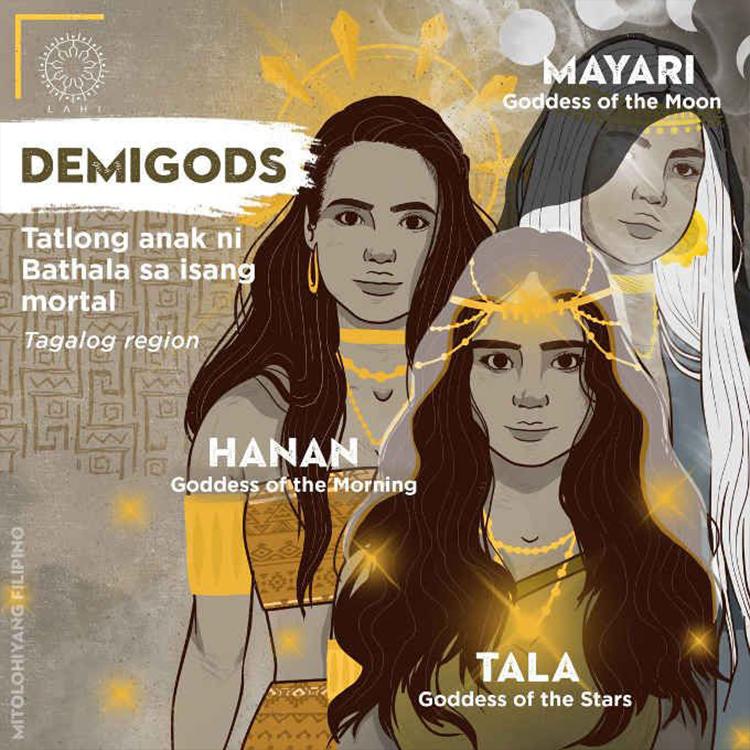 The 3 Demigods (Tagalog region) - Tala, Hanan, Mayari