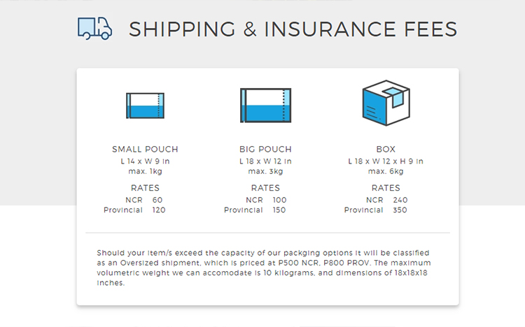 Select your shipping methods