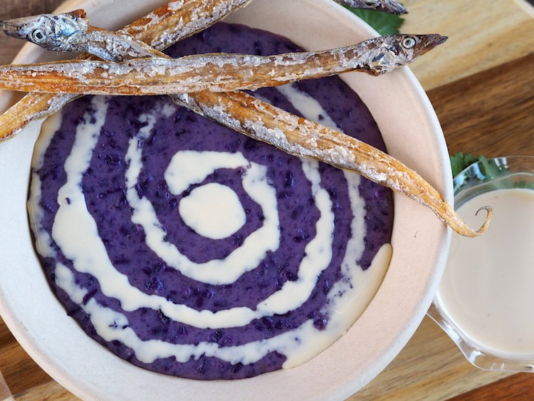 But what really put Si-KAT on the map was a unique twist on a beloved Filipino classic- the ube champorado.