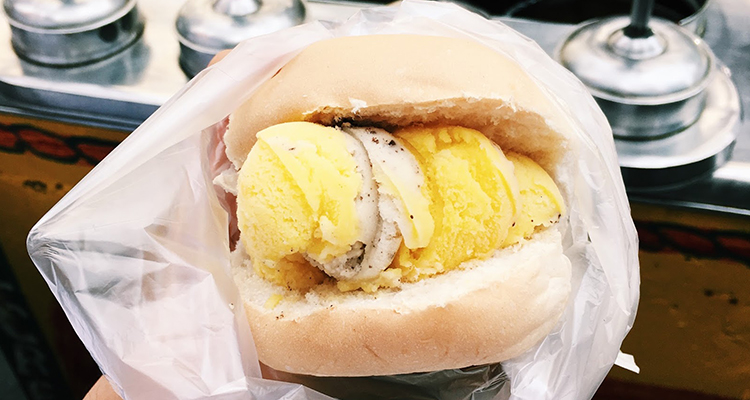 Ice cream with Bread