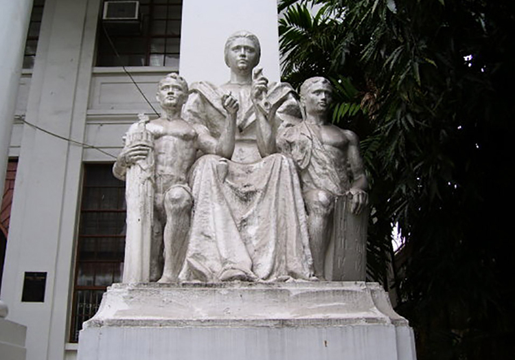 The Four La Madre Statues - Justice