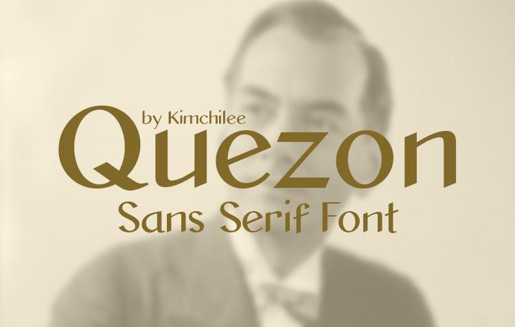 Quezon Sans Serif Font by Kimchilee